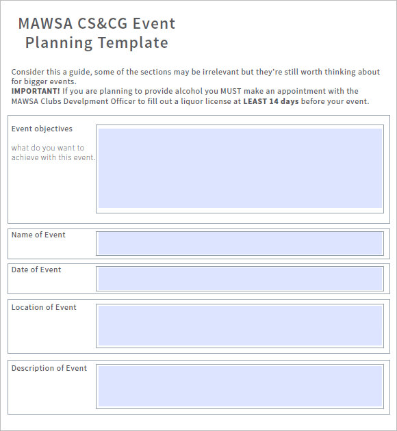 Event Planning Templates U2013 Free Samples , Examples , Format U2026  Event Planning Template Free
