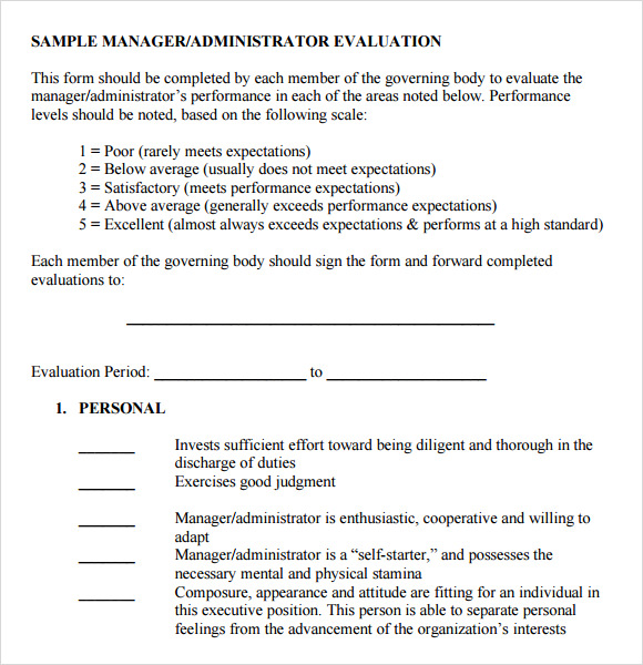 Manager Evaluation Form Pictures to Pin PinsDaddy – Sample Manager Evaluation