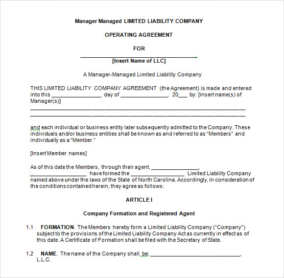 LLC Operating Agreement 8 Download Free Documents in PDF Word – Llc Operating Agreement