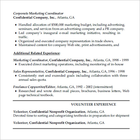 Coordinator Resume Sample Resume Templates Coordinator Resume Wine Sales  Manager Sample Resume Sample Letter Of Salary