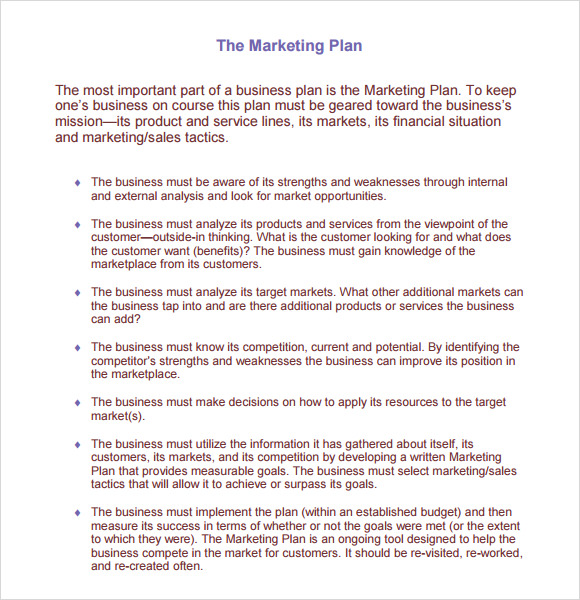 Marketing Project Plan Template