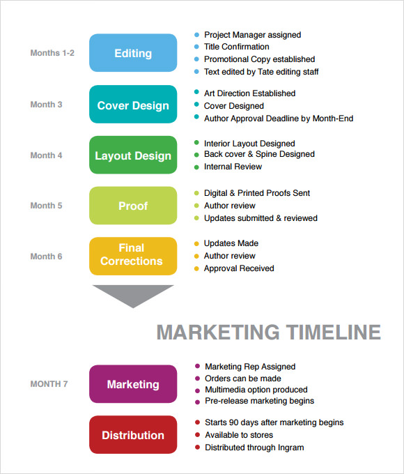 Elegant Marketing Timeline Example