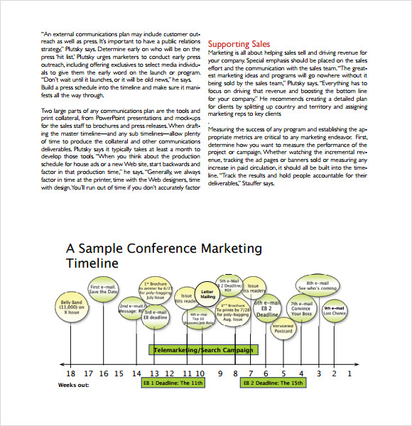 Sample Marketing Timeline Template - 6+ Free Documents In Pdf, Word