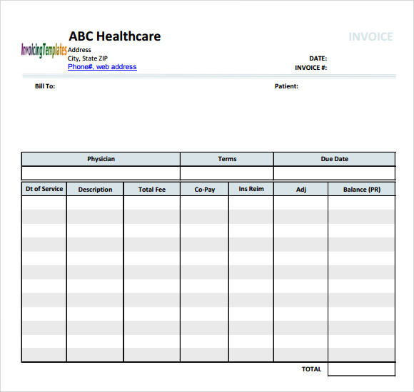 Medical Invoice Template Free Samples Examples Format - Medical invoice template pdf
