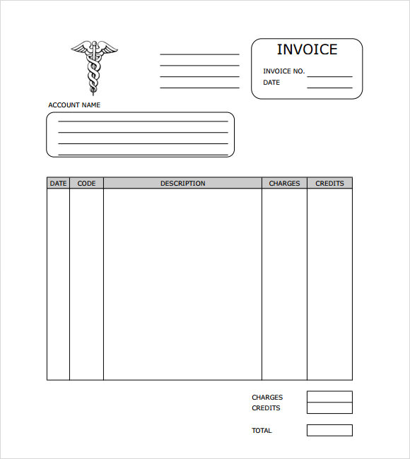 Medical Invoice Template 8 Free Samples Examples Format – Office Receipt Template