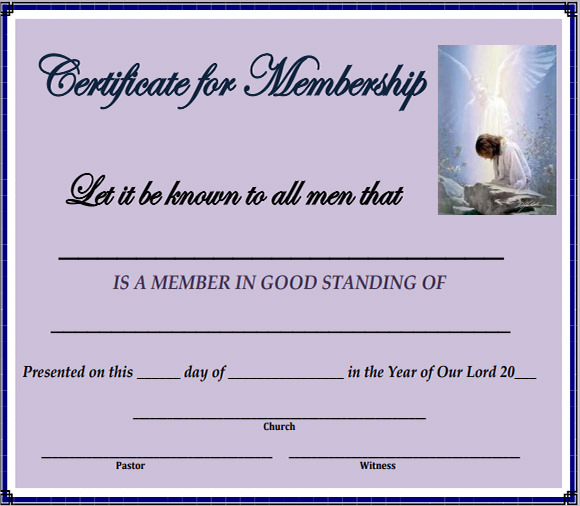 Lovely Membership Certificate Template PDF Within Membership Certificate Templates