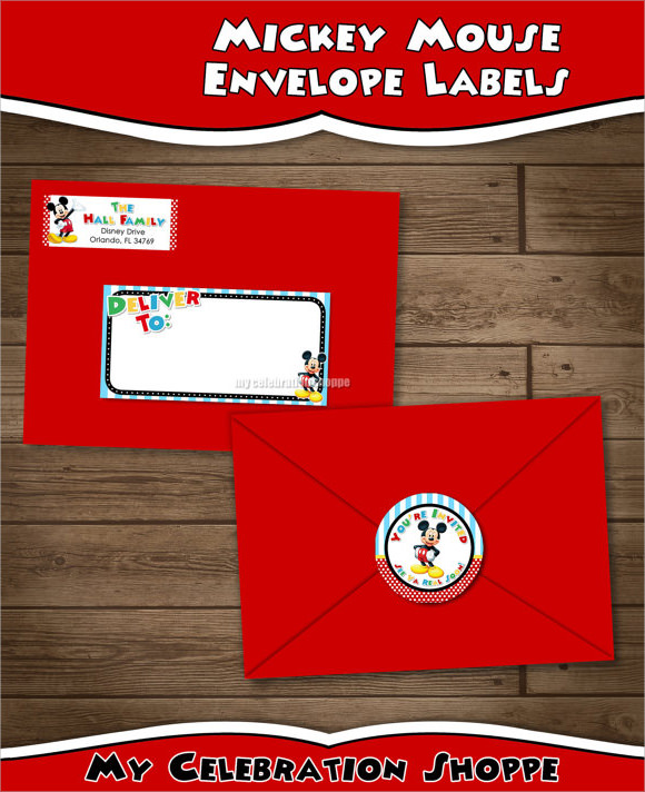 mickey mouse address label template