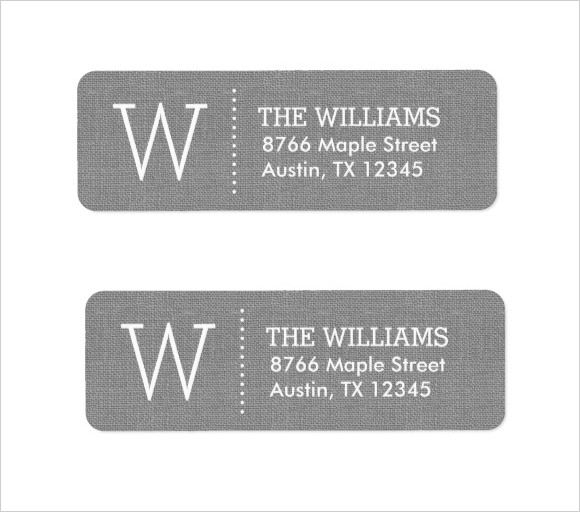 Elegant Monogram Return Address Label Template