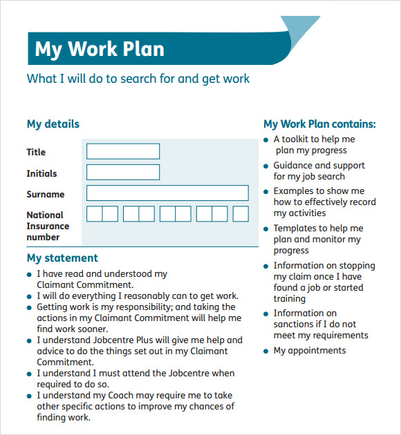My Work Plan Template Download