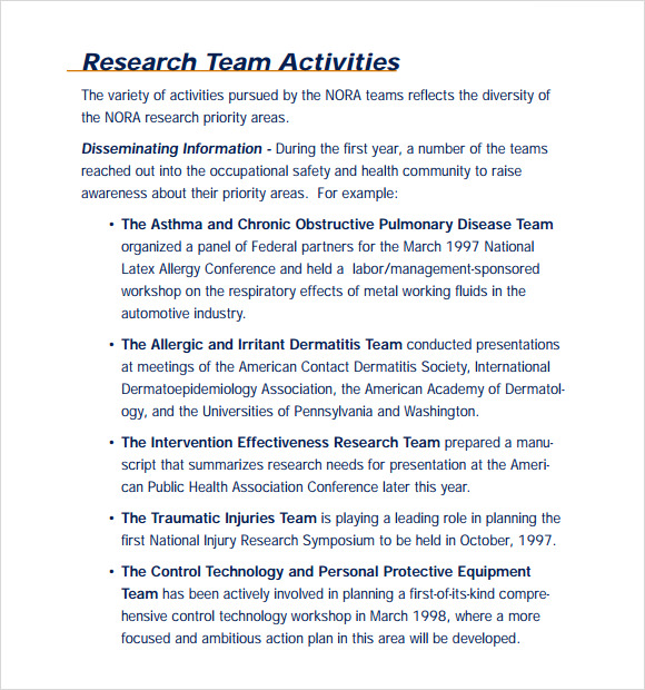 Sample Research Agenda 8 Examples Format – Research Agenda Sample