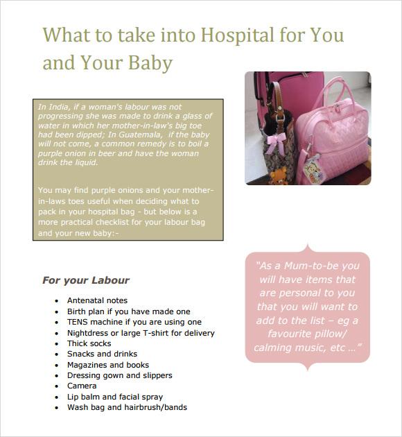 newborn care checklist