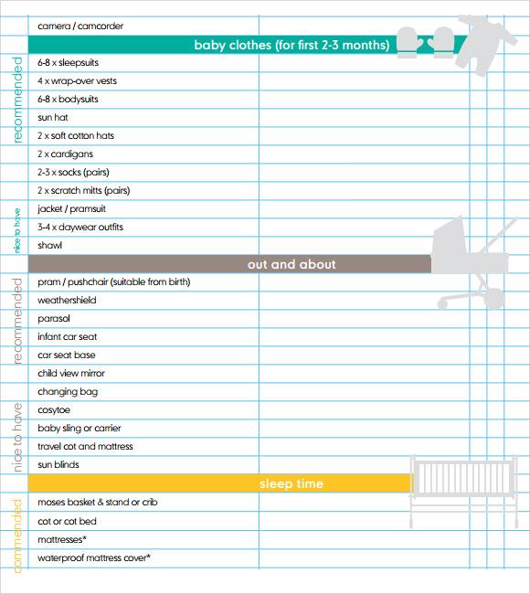 newborn clothes checklist