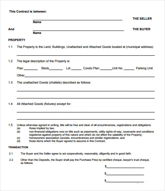 Sample Offer to Purchase Real Estate Form 9 Documents in PDF – Real Estate Offer Letter
