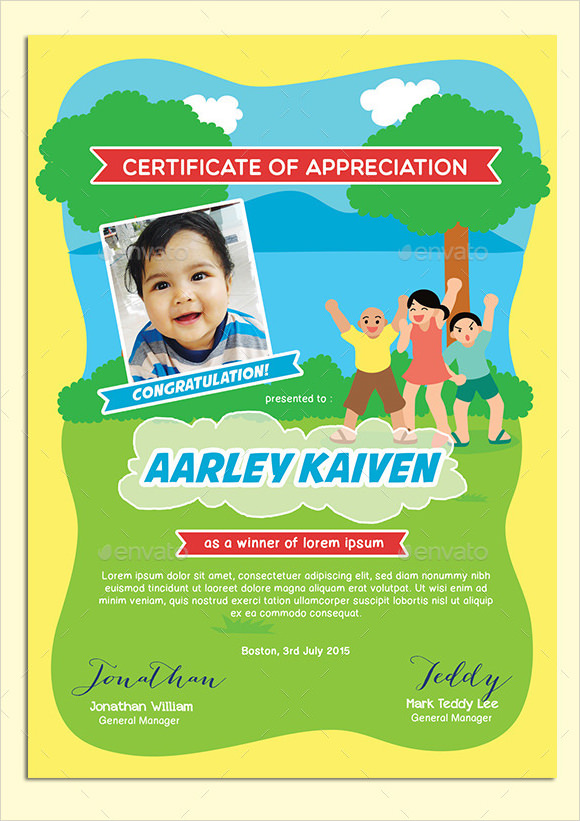 pages school certificate template