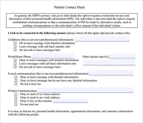 sample contact sheet templates