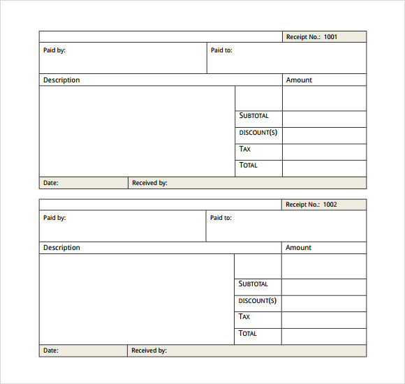 payment receipt example template