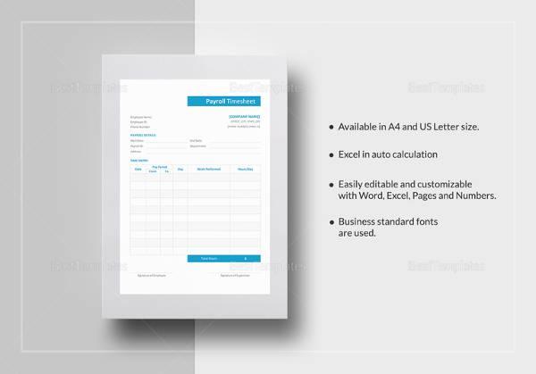 payroll timesheet template