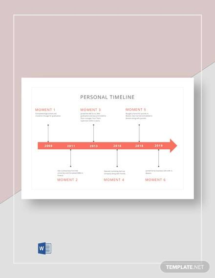 personal timeline template1