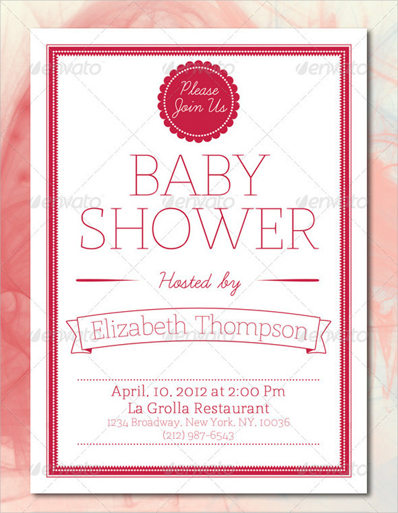 Baby Shower Card Template  Free Samples  Examples  Formats