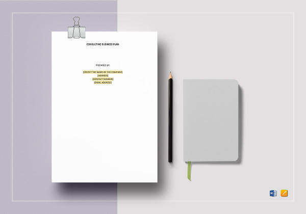 printable consulting business plan template