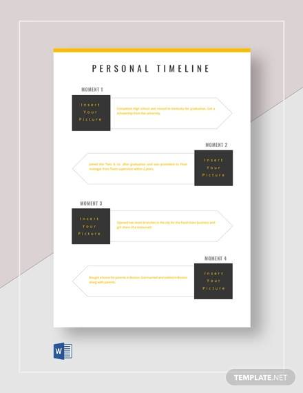 printable personal timeline template