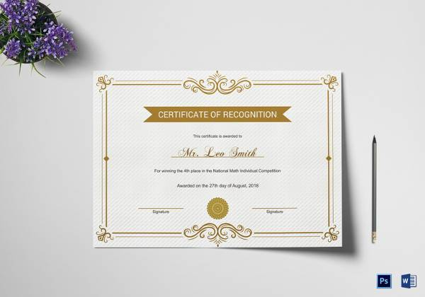 printable school recognition certificate template