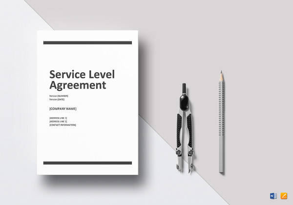 printable service level agreement word template