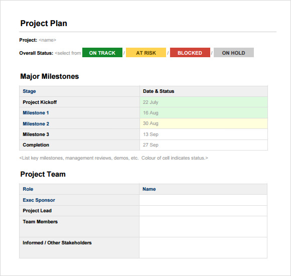 10 project planning templates free samples examples format