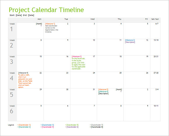 free 10  calendar timeline templates in free samples
