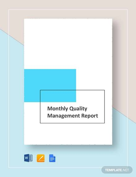 quality management montly
