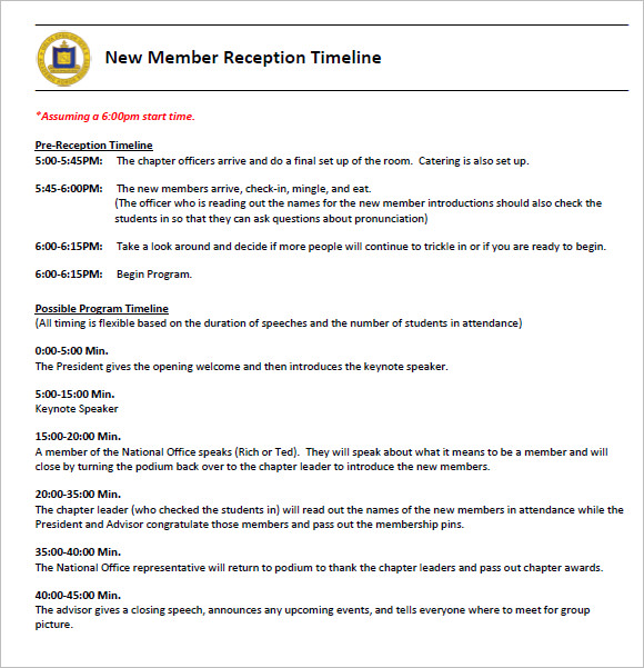 9 Sample Keynote Timelines PSD PDF – Sample Timeline for Students