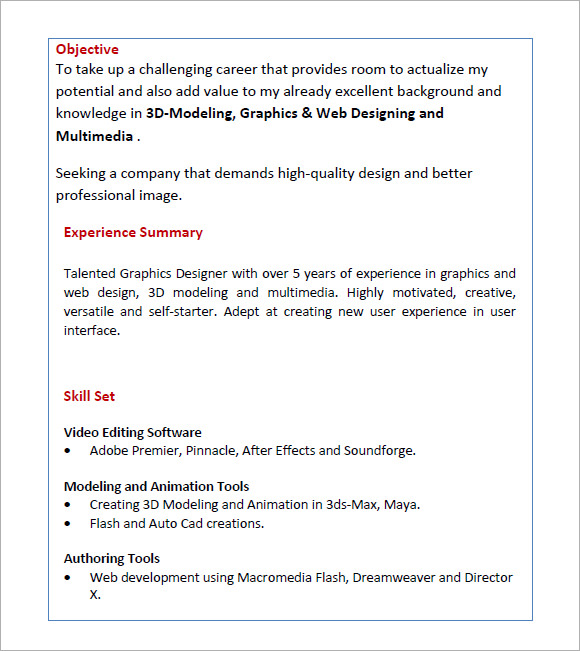 resume for freshers  u2013 7  free samples   examples   format