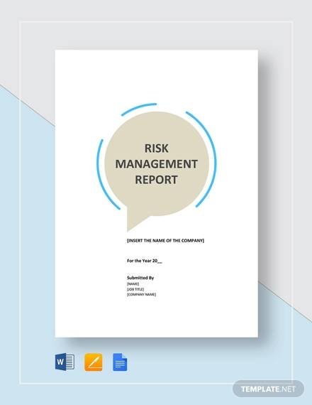 risk management report template1