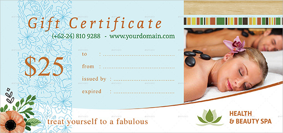 Gift Certificate Template 9 Sample Example Format – Sample Gift Certificate Template