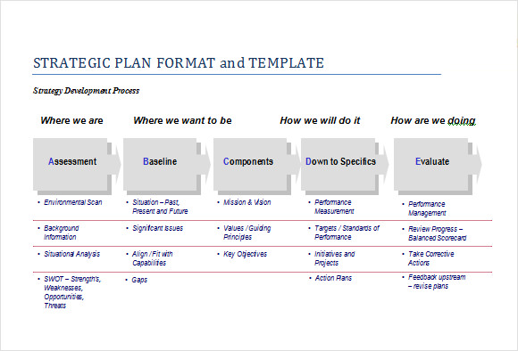 Sample Strategic Plan Template   Free Documents In Pdf Word