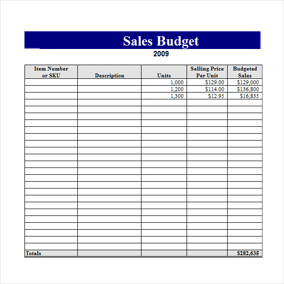 sales budget excel1