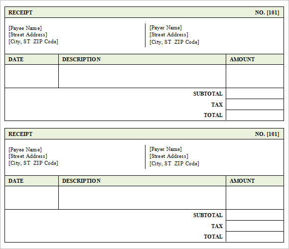 8+ sales receipt templates – free samples, examples, format, Invoice templates