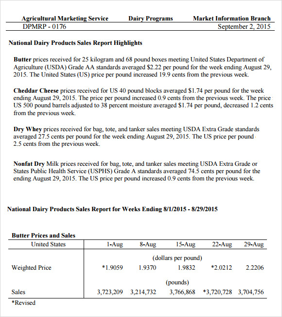 Sales Report Templates - 10+ Free Sample, Example, Format
