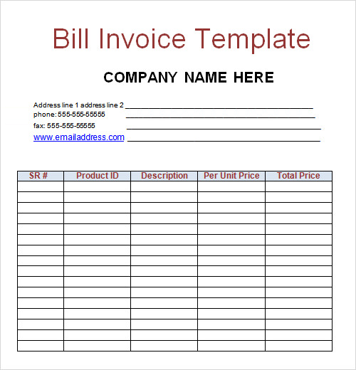 sample billing invoice template, Invoice templates