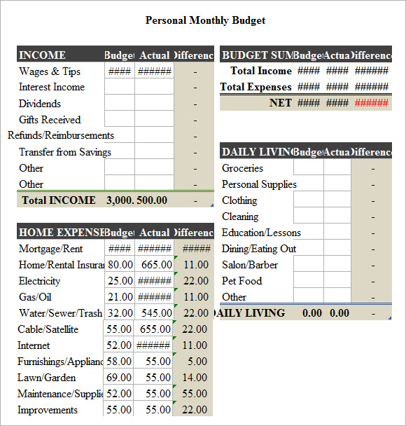 Sample-Budget-Spread-Sheet-template-Free-Download