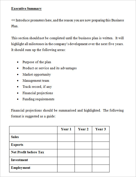 Business Plan Template   Free Samples Examples Format