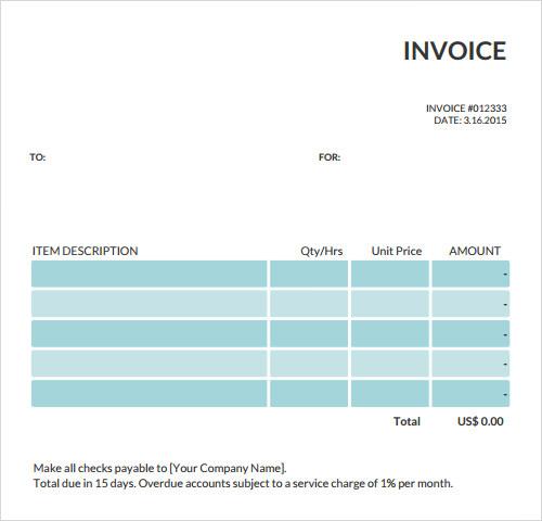 free hvac service invoice template .