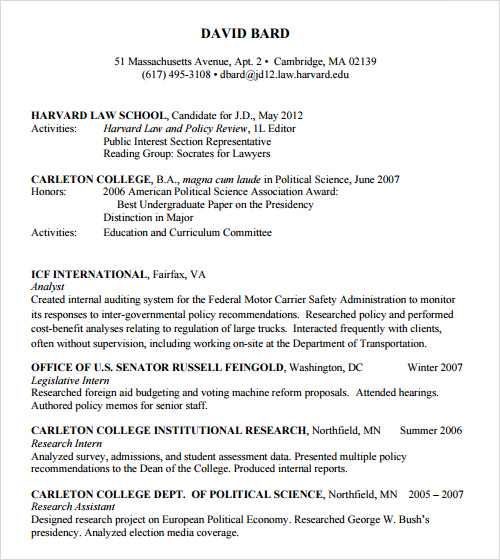 Lawyer Resume Sample | Sample Resume And Free Resume Templates