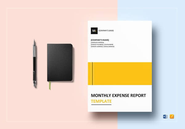 sample monthly expense report template