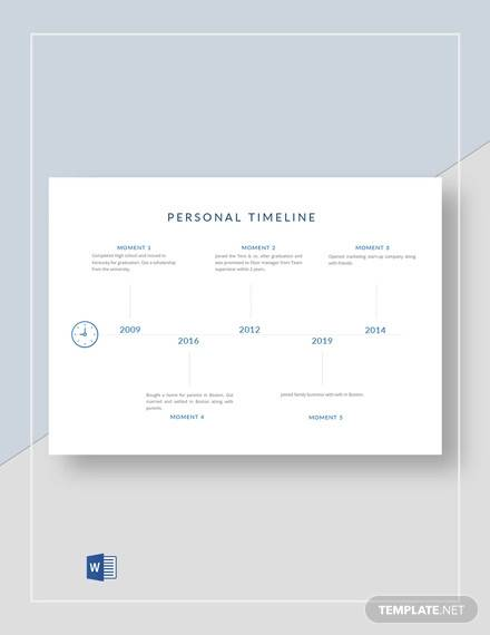 sample personal timeline template1