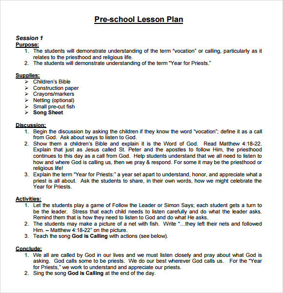Business plan lesson plan