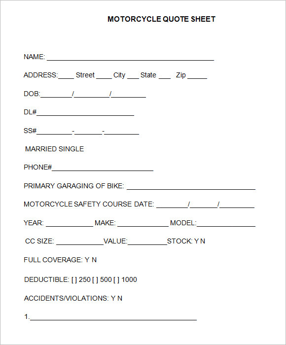 Auto insurance quote form template : Rodney d young insurance agency