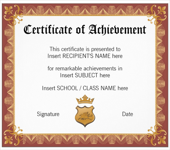 30 School Certificate Templates Samples Examples Format