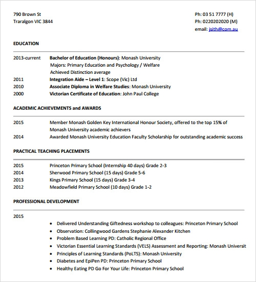 Resume Resume Example Monash sample resume template 24 free samples examples format tutor monash edu