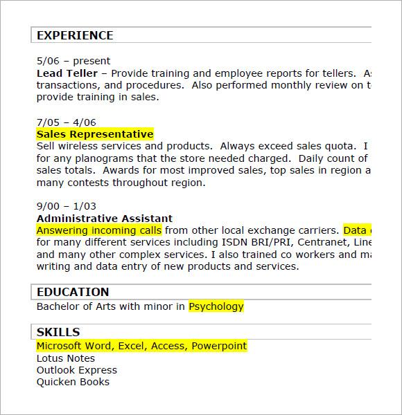 8 retail resumes  u2013 samples   examples  u0026 format